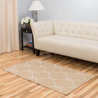 Tan Area Rug Rug Size: 3 x 5