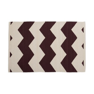 Chocolate/White Indoor/Outdoor Area Rug Rug Size: 2 x 3