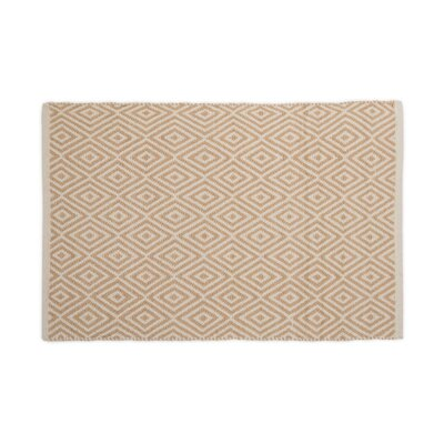 Hand-Loomed Tan Indoor/Outdoor Area Rug Rug Size: 2 x 3