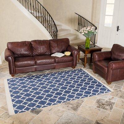 Blue Indoor/Outdoor Area Rug Rug Size: 5 x 8