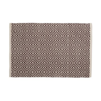 Hand-Loomed Chocolate Area Rug Rug Size: 2 x 3