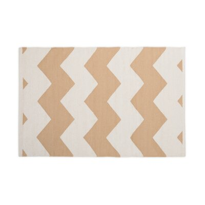 Tan/White Indoor/Outdoor Area Rug Rug Size: 2 x 3