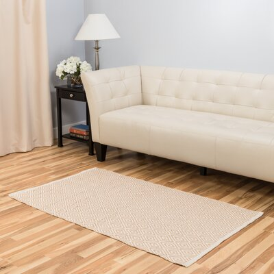 Hand-Loomed Tan Area Rug Rug Size: 3 x 5