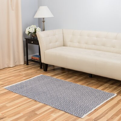 Hand-Loomed Blue Indoor/Outdoor Area Rug Rug Size: 3 x 5
