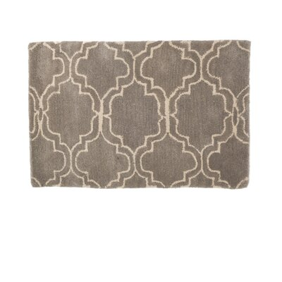 Wool Gray Area Rug Rug Size: Rectangle 2 x 3