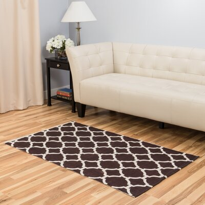 Chocolate Indoor/Outdoor Area Rug Rug Size: 3 x 5