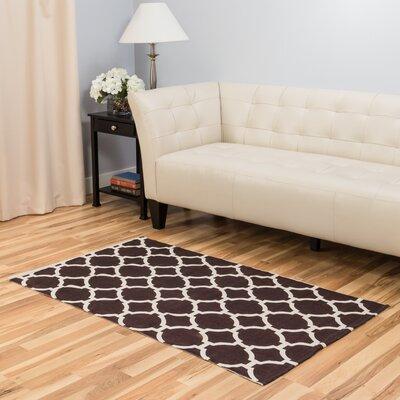 Chocolate Indoor/Outdoor Area Rug Rug Size: 3' x 5'