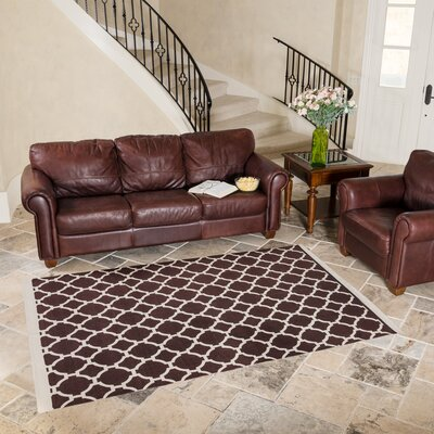 Chocolate Indoor/Outdoor Area Rug Rug Size: 5' x 8'