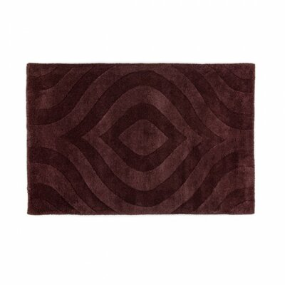 Hand-Tufted Chocolate Area Rug Rug Size: 2 x 3