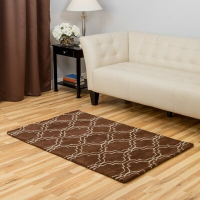 Chocolate Area Rug Rug Size: 3 x 5