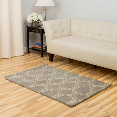 Wool Gray Area Rug Rug Size: Rectangle 3 x 5