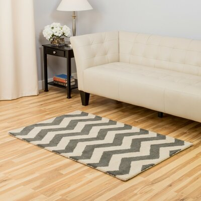Gray/Ivory Area Rug Rug Size: 3 x 5