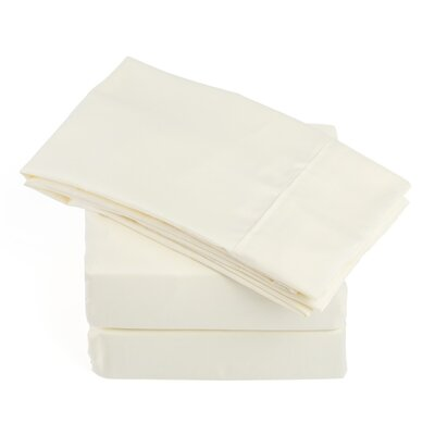 Soft Microfiber Sheet Set Size: King, Color: Ivory