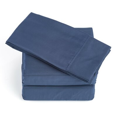250 Thread Count Soft Sheet Set Color: Navy Blue, Size: Queen