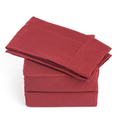 250 Thread Count Soft Sheet Set Color: Burgundy, Size: Queen