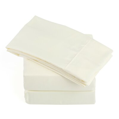 250 Thread Count Soft Sheet Set Color: Ivory, Size: Queen