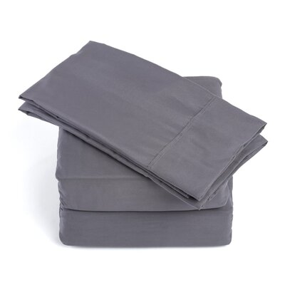 Soft Sheet Set Size: King, Color: Grey