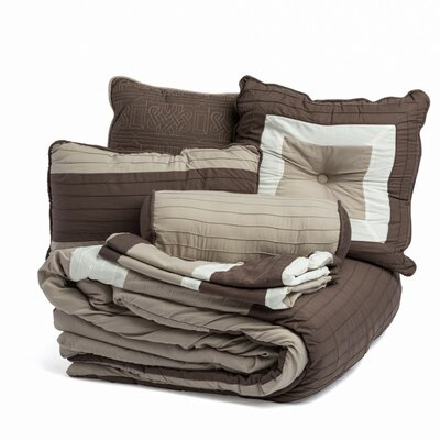 8 Piece Bed-In-a-Bag Set Size: Queen