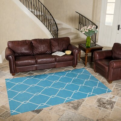 Turquoise Indoor/Outdoor Area Rug Rug Size: 5 x 8