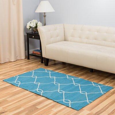 Turquoise Area Rug Rug Size: 3 x 5