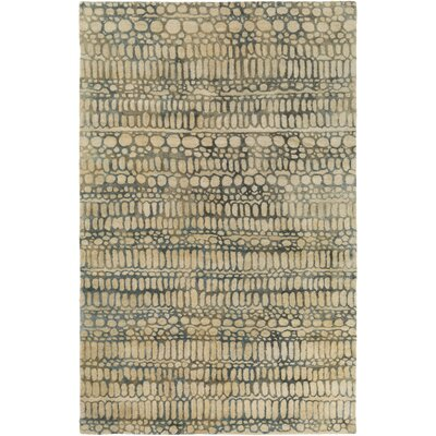 Natural Affinity Hand-Tufted Yellow/Green Area Rug Rug Size: 2 x 3