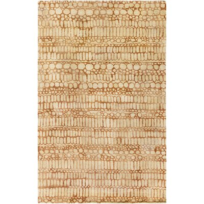 Natural Affinity Hand-Tufted Yellow Area Rug Rug Size: Rectangle 5 x 76