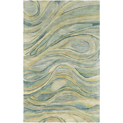 Natural Affinity Hand-Tufted Green/Beige Area Rug Rug Size: Rectangle 5 x 76