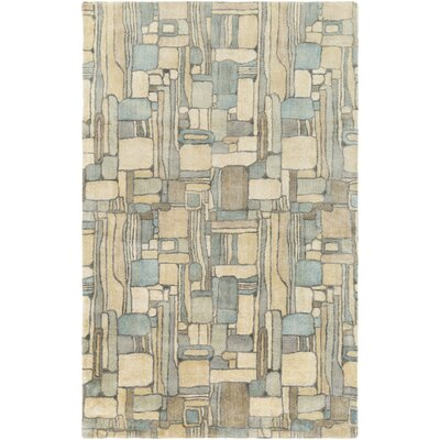 Natural Affinity Hand-Tufted Yellow/Blue Area Rug Rug Size: 2 x 3