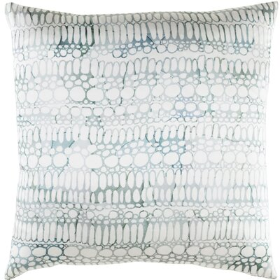 Natural Affinity Silk Pillow Cover Color: White/Gray