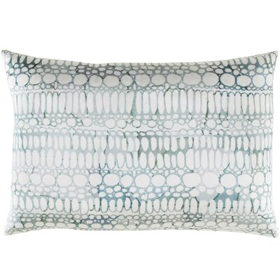 Natural Affinity Silk Pillow Cover Color: White / Gray