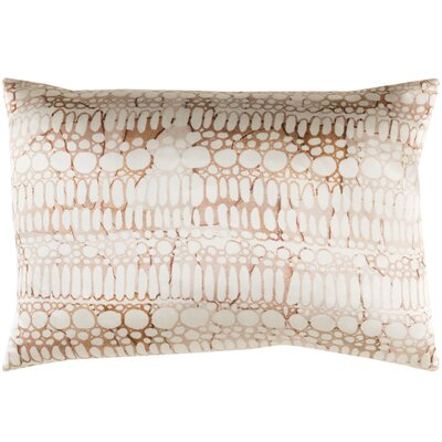 Natural Affinity Silk Lumbar Pillow Color: Brown / Orange