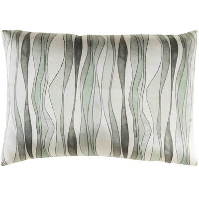 Natural Affinity Silk Lumbar Pillow Color: Neutral / Green