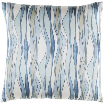Natural Affinity Silk Throw Pillow Color: White / Blue