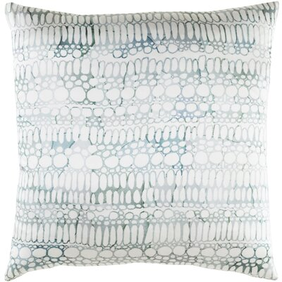 Natural Affinity Silk Throw Pillow Color: White / Gray