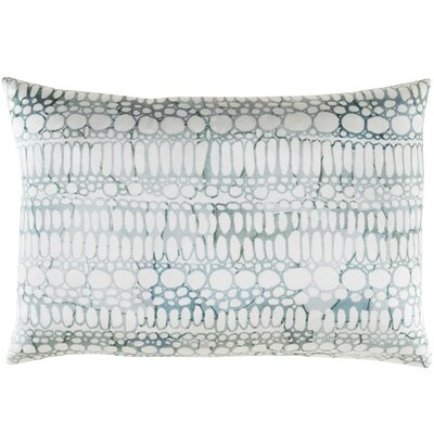 Natural Affinity Silk Lumbar Pillow Color: White / Gray