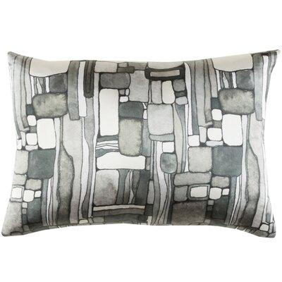 Natural Affinity Silk Lumbar Pillow Color: Gray