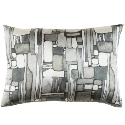 Natural Affinity Silk Lumbar Pillow Color: Gray