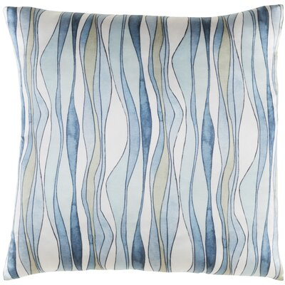 Natural Affinity Silk Pillow Cover Color: White / Blue