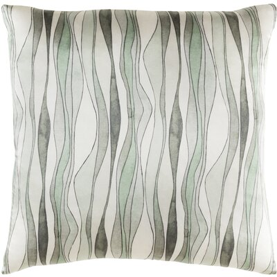 Natural Affinity Silk Pillow Cover Color: Neutral / Green