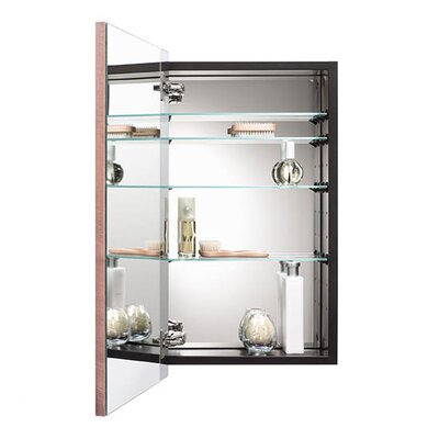 City 16.5 x 26.5 Recessed or Surface Mount Medicine Cabinet� Finish: Chestnut