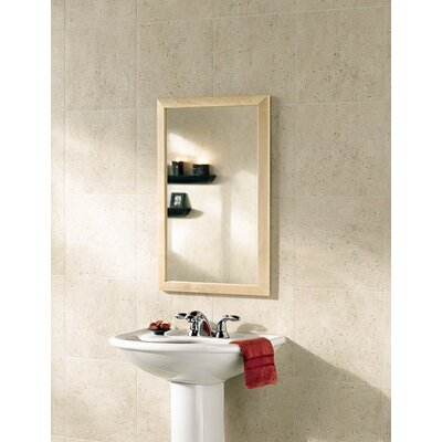 City 16.5 x 26.5 Recessed or Surface Mount Medicine Cabinet� Finish: Maple