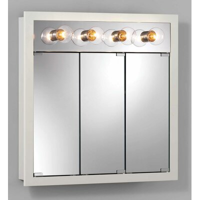 30 x 30 Surface Mount Medicine Cabinet with Lighting Finish: White