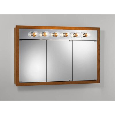 48 x 30 Surface Mount Medicine Cabinet with Lighting Finish: Honey Oak