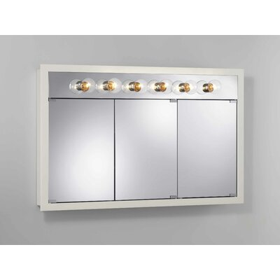 48 x 30 Surface Mount Medicine Cabinet with Lighting Finish: White