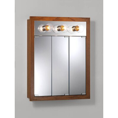 24 x 30 Surface Mount Medicine Cabinet with Lighting Finish: Honey Oak