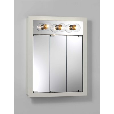 24 x 30 Surface Mount Medicine Cabinet with Lighting Finish: White