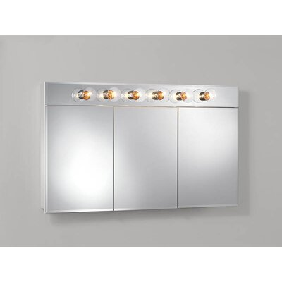Ashland 47.75 x 27.75 Surface Mount Medicine Cabinet with Lighting