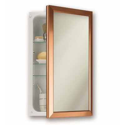 15.75 x 25.5 Recessed Medicine Cabinet Finish: Copper