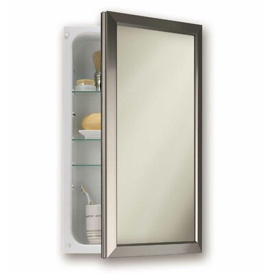 15.75 x 25.5 Recessed Medicine Cabinet Finish: Satin Nickel