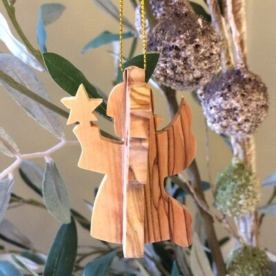 3-D Angel Small Ornament